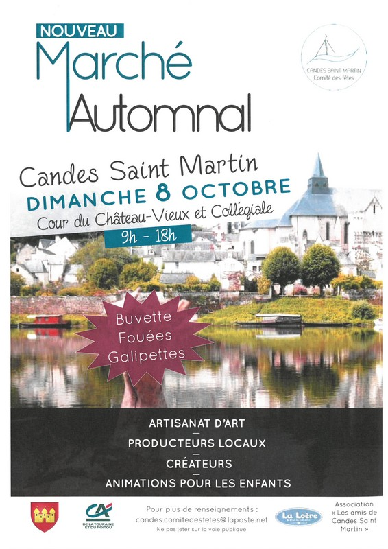 08/10 : MARCHÉ AUTOMNAL A CANDES ST MARTIN