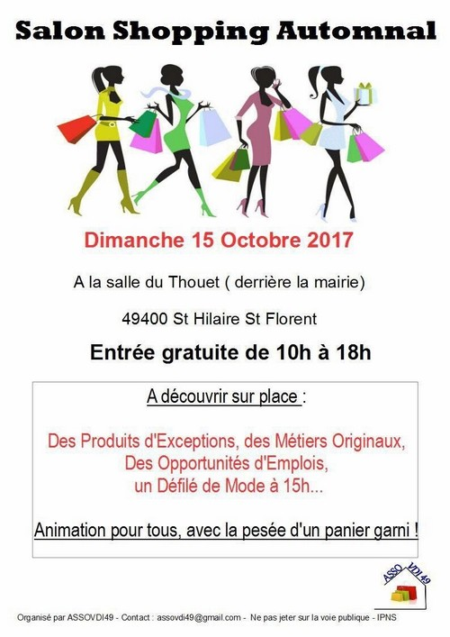 15/10 : SALON DU SHOPPING AUTOMNAL A SAINT-HILAIRE-SAINT-FLORENT