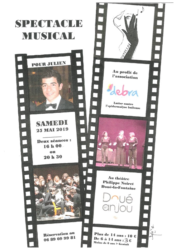 25/05 : SPECTACLE MUSICAL - VOYELLES À DOUÉ-LA-FONTAINE