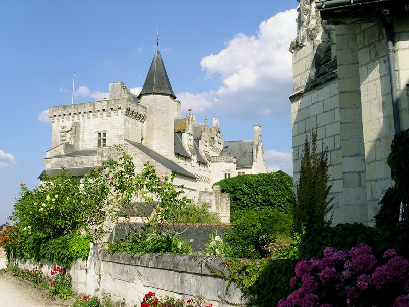 The castle and the village of Montsoreau © Mairie de Montsoreau
